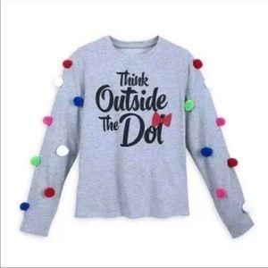 Disney Minnie Think Outside the Dot Sweatshirt M